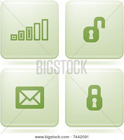 Olivine Square 2D Icons Set: Phone display