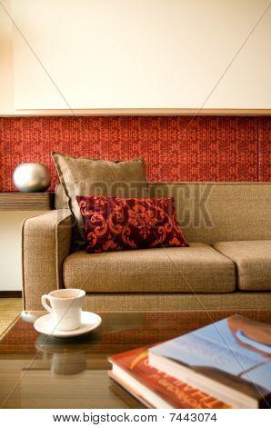 Hotel Suite Living Room With Beautiful Interior Design