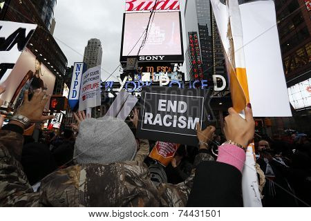 Rally in Times Square