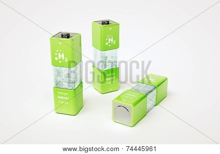 Concept Of Hydrogen Fuel Cell Battery