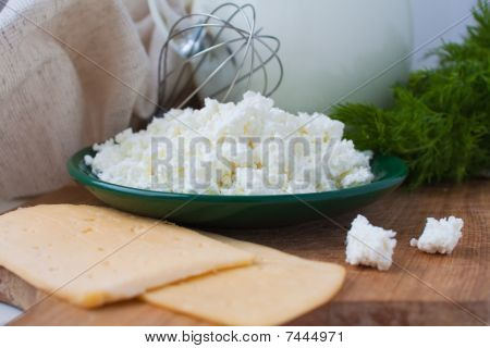 Sandwiches With Cheese, Dill, A Parsley, Milk
