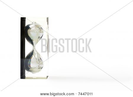 Sand-glass Isolated On White