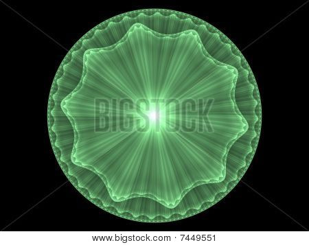 Abstract Art On A Fractal Disc