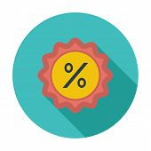 Percent label. Single flat color icon. Vector illustration. poster