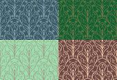 Vector seamless pattern made in an elven style poster