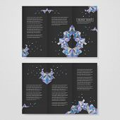 abstract geometric colorful triangles design for tri-fold brochure poster
