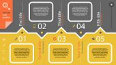 Timeline infographic with diagram and text months ago and set of line icons in retro style poster