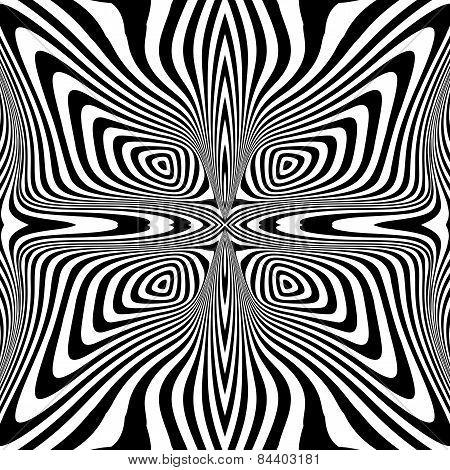 Design Monochrome Swirl Movement Illusion Background