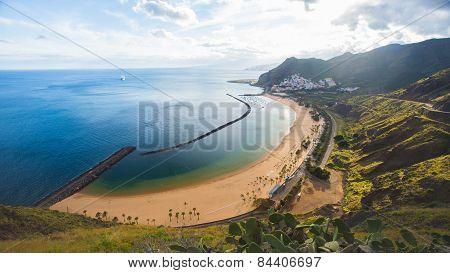 Beach Las Teresitas on Tenerife