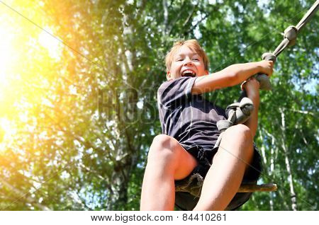 Kid Bungee Jumping