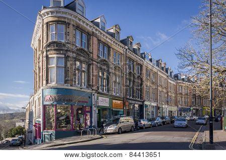 Regent Street, Clifton, Bristol, Uk