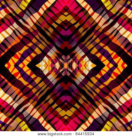 Symmetric exotic pattern, red strips.