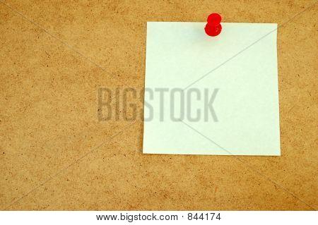 Corkboard mit Anmerkung # 4