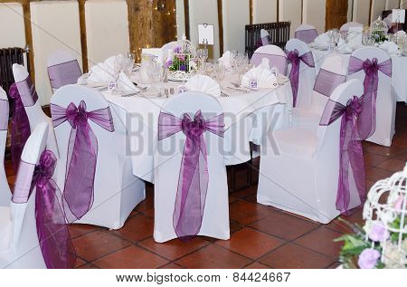 Chair And Table Cover At Wedding