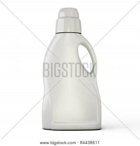 Bottle template for detergent isolated on white background. Bottle template for detergent for your design. 3d illustration. poster