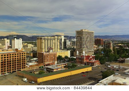 Reno, Usa - August 12: Aerial View Of Apartment Buildings On August 12, 2014 In Reno, Usa.  Reno Is