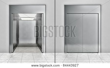 Modern elevator set