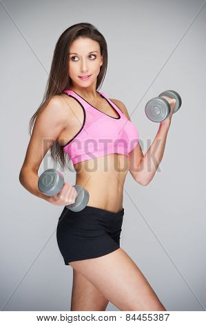 Fit Woman Lifting Weights
