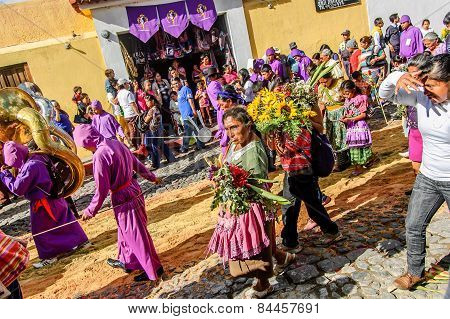 Behind Lent Procession, Antigua, Guatemala