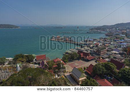High angle view of Srichang Island
