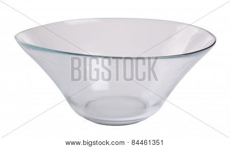 Glass Bowl. Glass Bowl On Background. Glass Bowl On A Background.