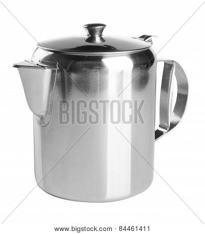 Tea Pots. Stainless Steel Tea Pots On The Background.