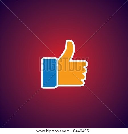 Flat Design Vector Icon Of Approve Symbol Used In Social Media Websites