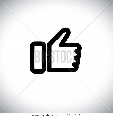 Concept Vector Graphic - Black Line Of Like Hand Icon