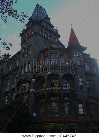 House in the jewish neighbourhood in Prague