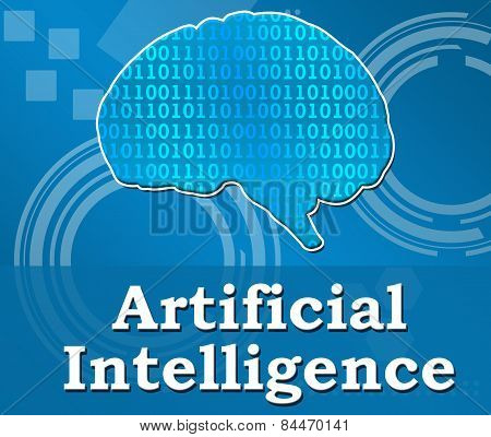Artificial Intelligence Techy Background Square