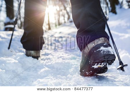 Winter hiking.