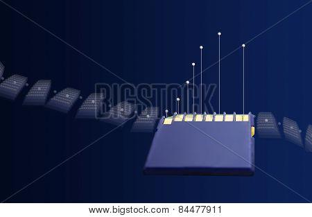 Blue Memory Card