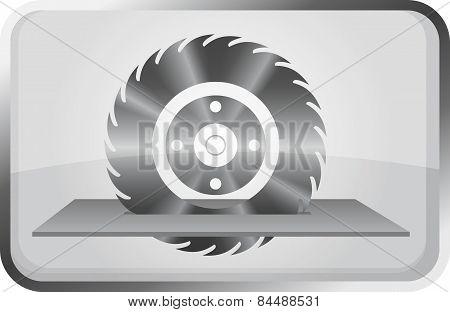 Saw Wheel - Vector Icon.