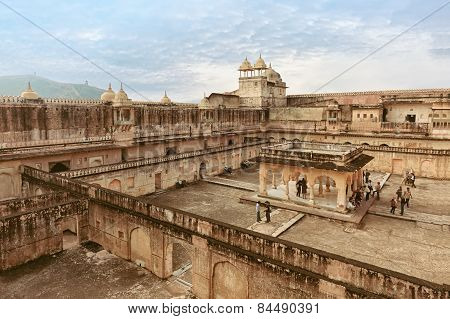 View of Amber fort courtyard, Jaipur, India, Rajasthan poster