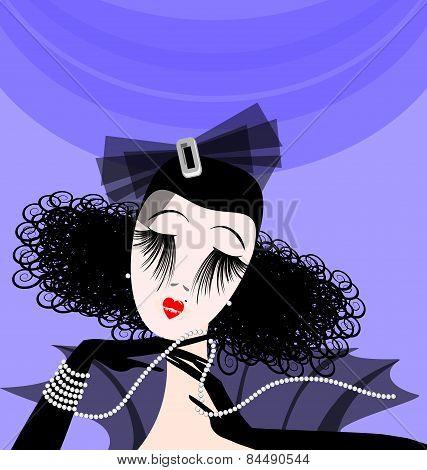 abstract retro lady