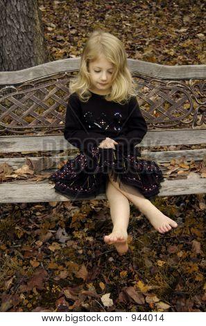 Antique Bench Girl
