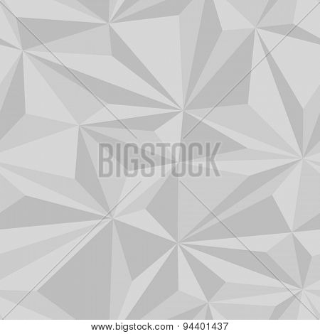 Seamlessly tiling background texture made of simple geometric triangles with 3d effects.