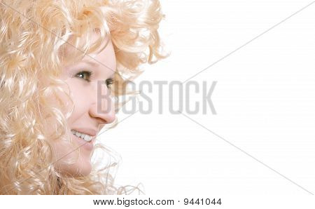 Young Smiling Girl With Blond Hair