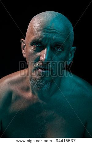 Close-up Portrait Of An Old Man.