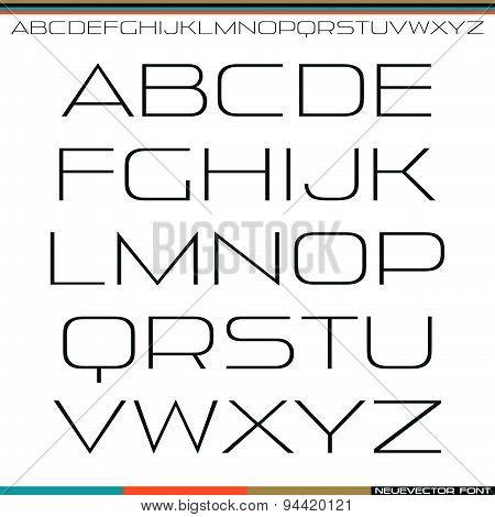 Sans Serif Font Thin Line