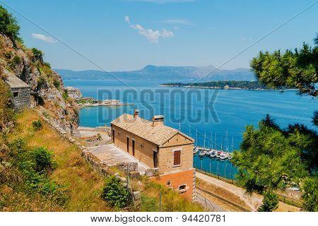 Historic center of Kerkyra town on the Corfu