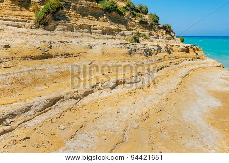 Canal d'amour on Sidari, Corfu island, Greece