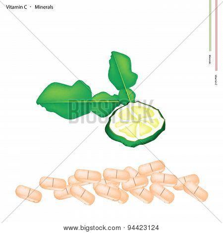 Fresh Kaffir Limes With Vitamin C And Minerals