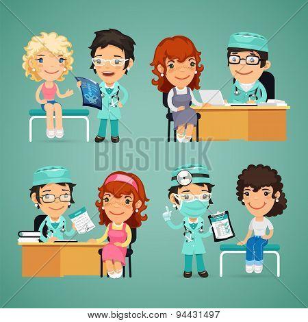 Women Having Medical Consultation in Doctors Office