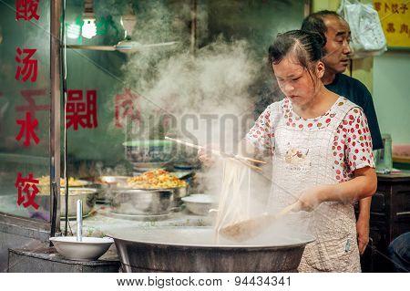 Street food at Muslim Street in Xian