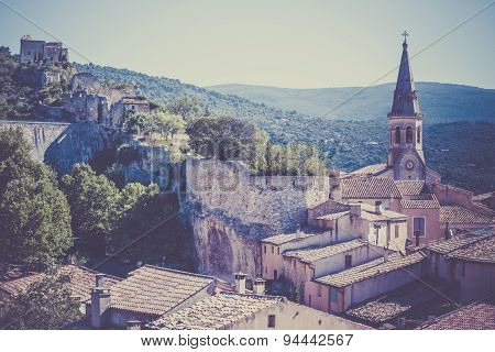 View Of Saint Saturnin D Apt, Provence, France