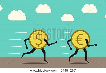 Dollar Overtaking Euro
