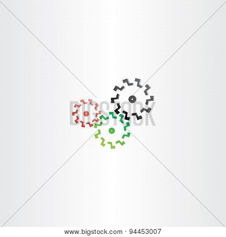color cogs mechanic gears icon design sign illustration poster