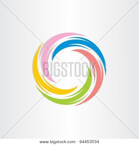 Color Tornado Spiral Abstract Background