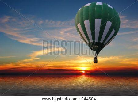 Balloon Above The Sea